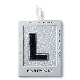 Fluffy Alphabet Sticker: L