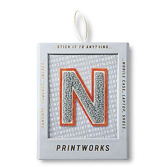 Fluffy Alphabet Sticker: N
