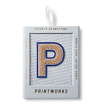 Fluffy Alphabet Sticker: P