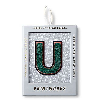Fluffy Alphabet Sticker: U