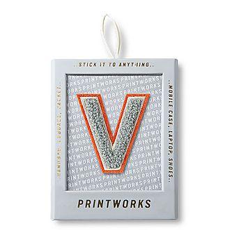 Fluffy Alphabet Sticker: V
