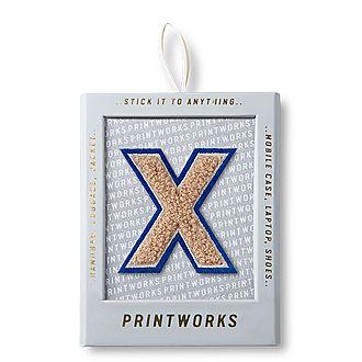 Fluffy Alphabet Sticker: X