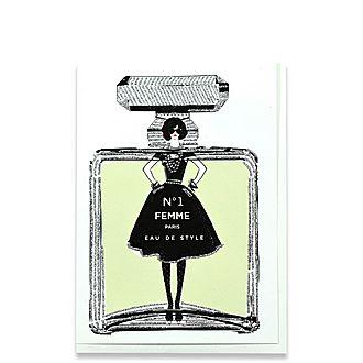 No1 Femme Eau de Style Greeting Card