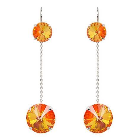 Neon Pendant Drop Earrings, ${color}