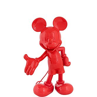 Lacquer Mickey Mouse Welcome Figurine
