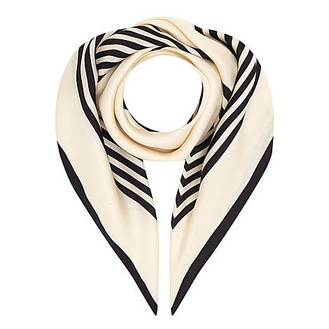 Striped Silk Scarf, ${color}