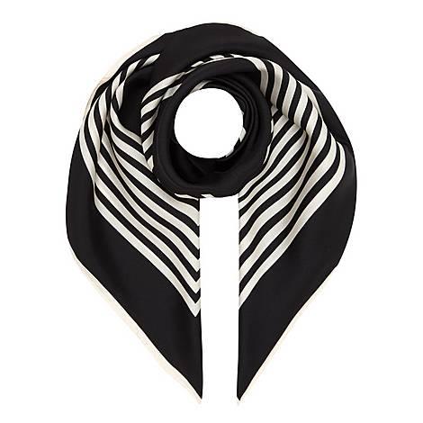 Striped Silk Scarf, ${color}
