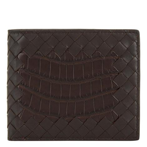 Croc Leather Bi-Fold Wallet, ${color}