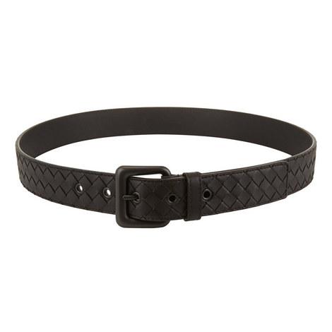 Textured Leather Belt, ${color}
