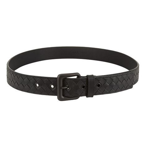Textured Leather Belt, ${color}