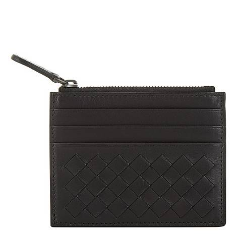 Top Zip Leather Card Holder, ${color}