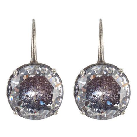 Gemstone Drop Earrings, ${color}
