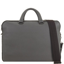 Leather Double-Zip Briefcase
