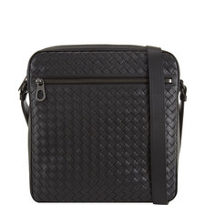 Intrecciato Zip Messenger Bag Small