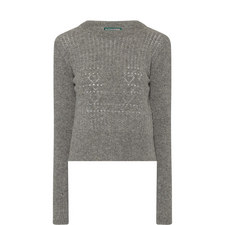 Perforated Wool Sweater