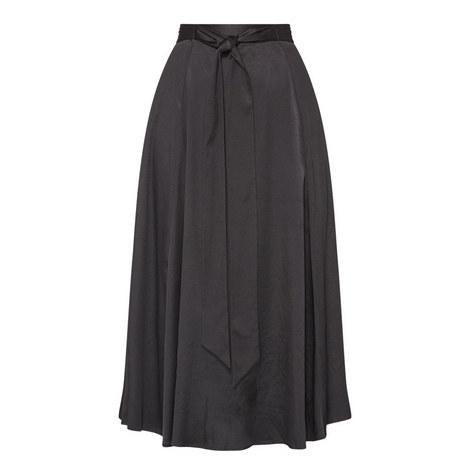 Fluid Sash Tie Maxi Skirt, ${color}