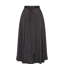 Fluid Sash Tie Maxi Skirt