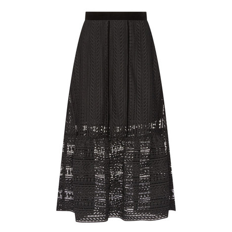 Cable Lace Midi Skirt, ${color}