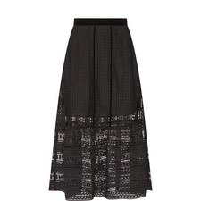 Cable Lace Midi Skirt