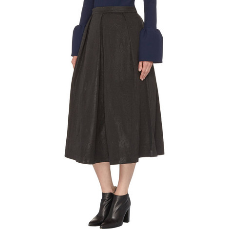 Jacquard Midi Skirt, ${color}