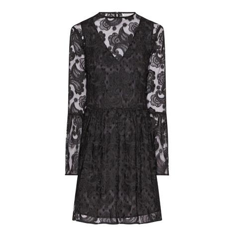 Lace Embellished Mini Dress, ${color}