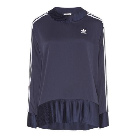 3-Stripe Pleated Sweatshirt, ${color}