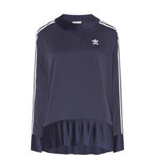 3-Stripe Pleated Sweatshirt