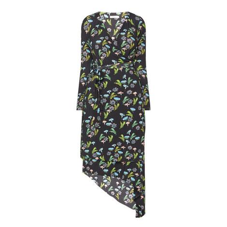 Ebor Floral Print Wrap Dress, ${color}