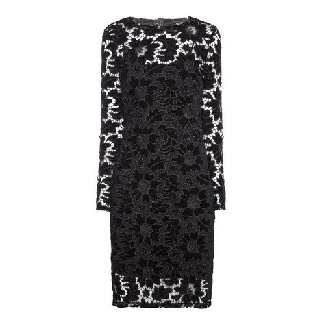 Basset Velvet Lace Dress, ${color}