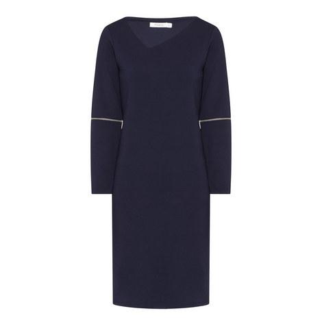 Dolben Ovoid Zip Sleeve Dress, ${color}