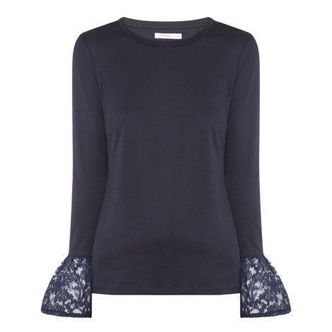 Dover Flute Sleeve Top, ${color}