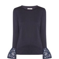 Dover Flute Sleeve Top