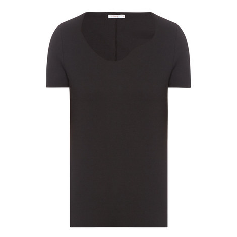 Avery Curved Neck Top, ${color}