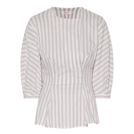 Campion Woven Stripe Top, ${color}