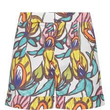 Sundown Floral Vine Shorts
