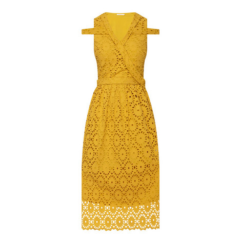 Sunwell Graphic Broderie Dress, ${color}