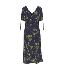 Barbel Ruched Sleeve Tea Dress