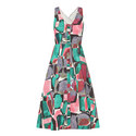 Bartley Sleeveless Print Dress, ${color}