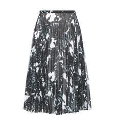 Hobman Pleated Midi Skirt