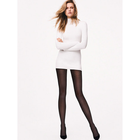 Mesh Pattern Tights, ${color}