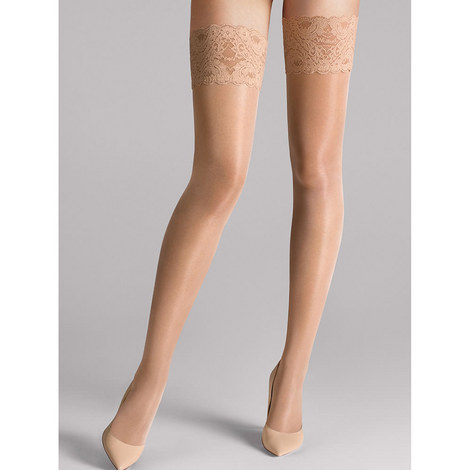 Satin Touch 20 Stay-Up Stockings, ${color}