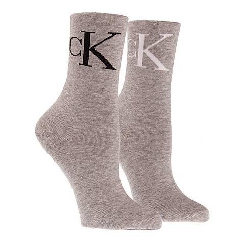2 Pack Logo Socks, ${color}