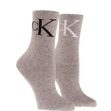 2 Pack Logo Socks
