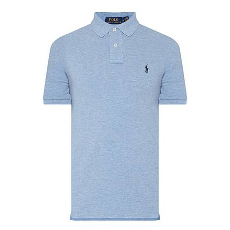 Slim Fit Piqué Polo Shirt, ${color}