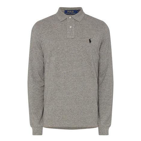 Custom Fit Long Sleeve Polo Shirt, ${color}
