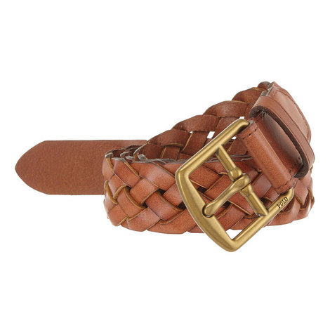 Woven Leather Belt, ${color}