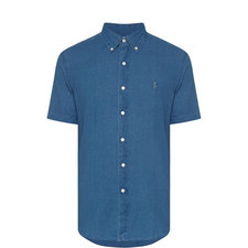 Washed Short Sleeve Oxford Shirt