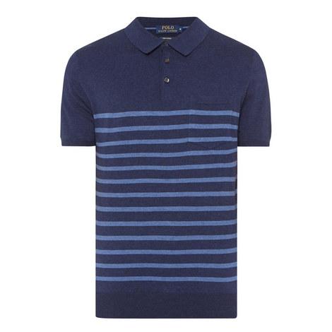 Stripe Pattern Polo Shirt, ${color}