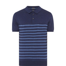 Stripe Pattern Polo Shirt