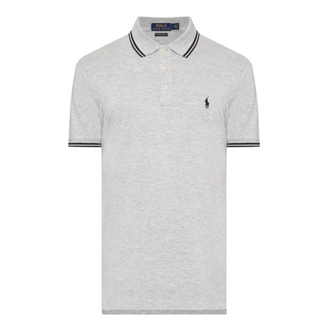 Custom Slim Fit Tipped Polo Shirt, ${color}